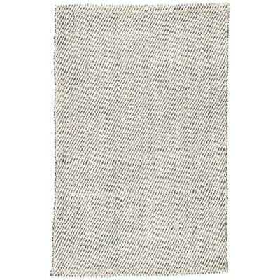 Alcott Hand-Loomed White/Gray Area Rug Rug Size: Rectangle 8 x 10