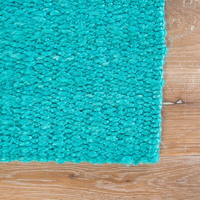 Quito Hand Loomed Turquoise Area Rug Rug Size: Rectangle 10' x 14'