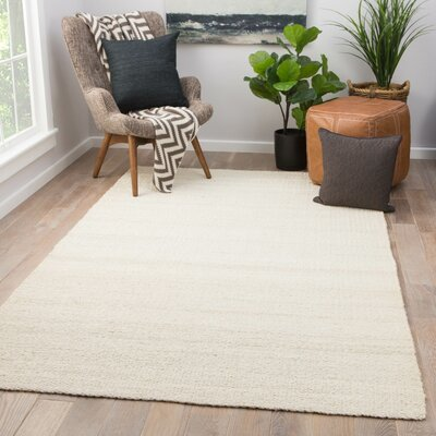 Quito Hand Loomed White Area Rug Rug Size: Rectangle 9 x 12