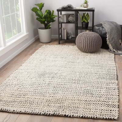 Alcott Natural Hand Loomed White Area Rug Rug Size: Rectangle 5 x 8