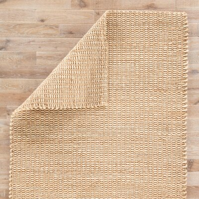 Siara Hand Loomed Beige Area Rug Rug Size: Rectangle 5 x 8