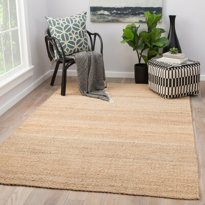 Quito Hand Loomed Beige Area Rug Rug Size: Rectangle 9 x 12
