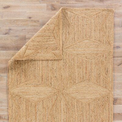 Bancroft Hand Loomed Beige Area Rug Rug Size: Rectangle 5 x 8