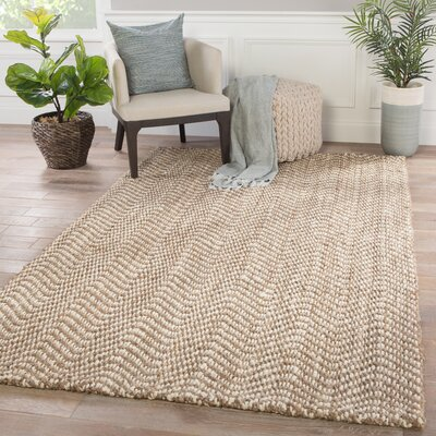Mayara Hand Loomed Taupe Area Rug Rug Size: Rectangle 5 x 8