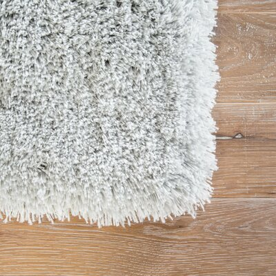 Cadence Shag And Flokati Gray Area Rug Rug Size: Rectangle 9 x 13