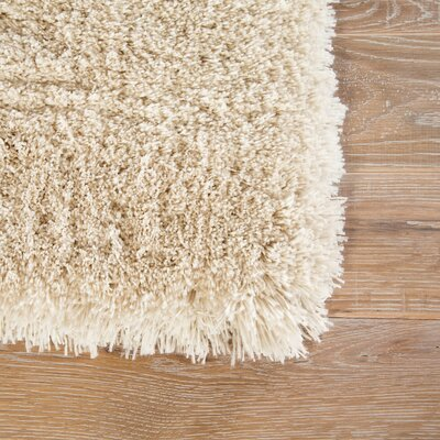 Cadence Shag And Flokati Cream Area Rug Rug Size: Rectangle 9 x 13