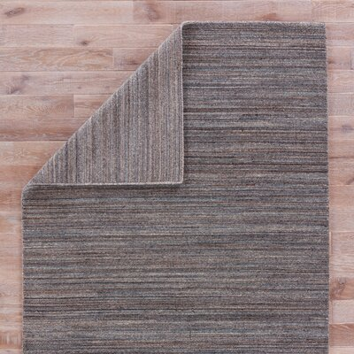 Hadrian Hand-Loomed Wool Gray Area Rug Rug Size: Rectangle 2 x 3