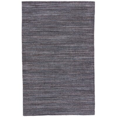 Hadrian Hand-Loomed Wool Dark Gray Area Rug Rug Size: Rectangle 5 x 8