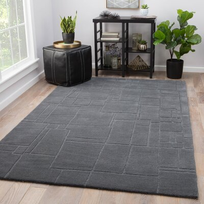 Ellington Hand-Tufted Wool Gray Area Rug Rug Size: Rectangle 5 x 8