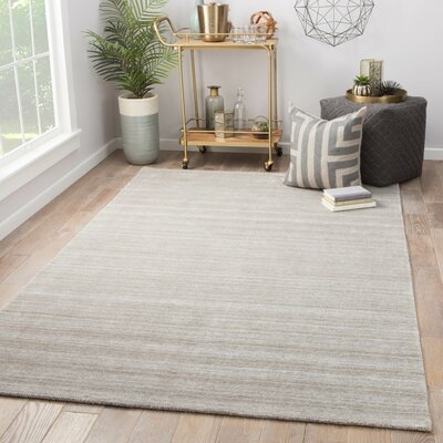 Fleet Hand Loomed Gray Area Rug Rug Size: Rectangle 5 x 8
