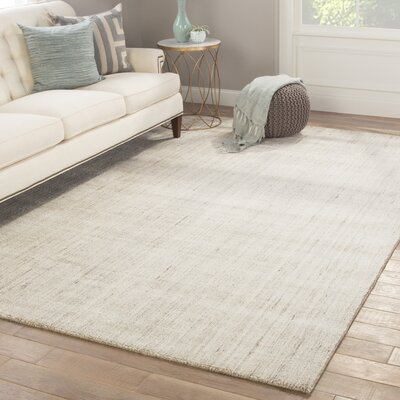 Minke Hand Loomed Gray Area Rug Rug Size: Rectangle 9 x 13