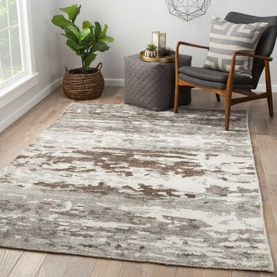Thayer Hand Knotted Gray Area Rug Rug Size: Rectangle 9 x 13