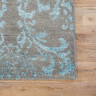 Soliel Hand Knotted Light Blue/Gray Area Rug Rug Size: Rectangle 2 x 3