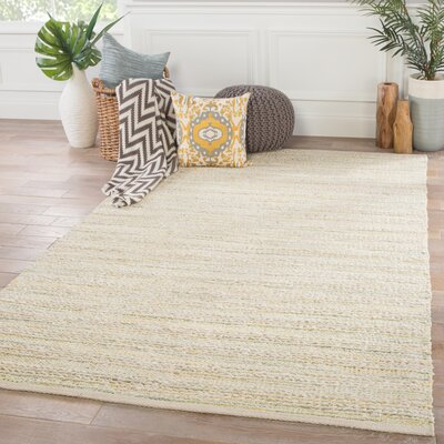 Nelms Hand Woven White Area Rug Rug Size: Rectangle 5 x 8