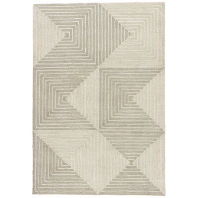 Zaydan Hand-Tufted Gray Area Rug Rug Size: Rectangle 5 x 76
