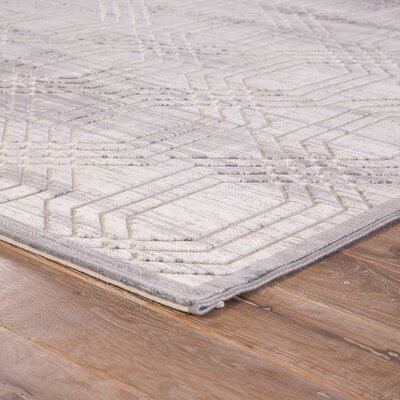 Marsielle Power-Loomed Gray Area Rug Rug Size: Rectangle 9 x 12