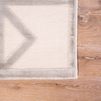 Totem Power-Loomed White/Silver Area Rug Rug Size: Rectangle 2' x 3'