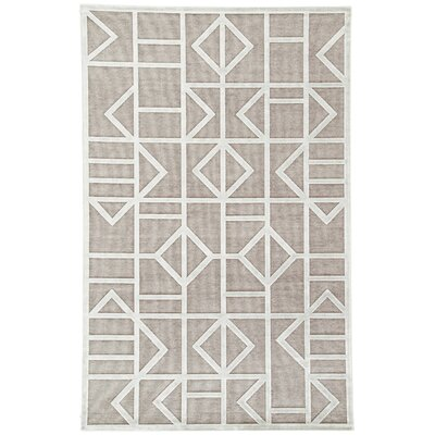 Totem Power-Loomed Gray/White Area Rug Rug Size: Rectangle 9 x 12