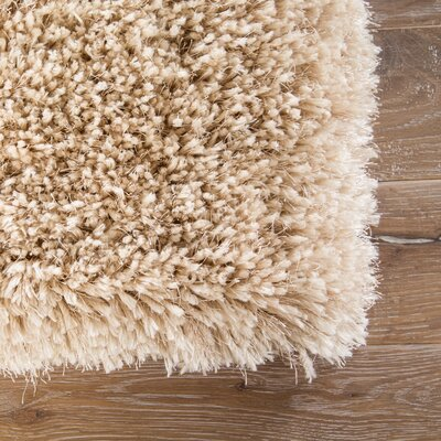 Orion Shag And Flokati Solid Cream Area Rug Rug Size: Rectangle 8 x 11