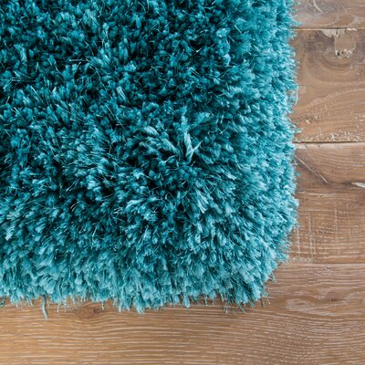 Orion Shag And Flokati Teal Area Rug Rug Size: Rectangle 9 x 13