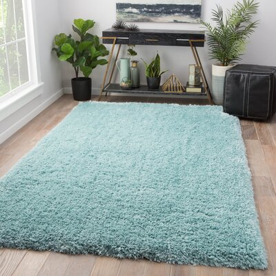 Orion Shag And Flokati Blue Area Rug Rug Size: Rectangle 9 x 13