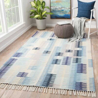Afton Flat Woven Blue Indoor/Outdoor Area Rug Rug Size: Rectangle 5 x 8