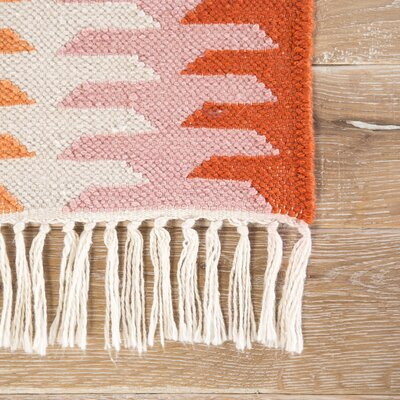 Afton Flat-Woven Orange/Brown Indoor/Outdoor Area Rug Rug Size: Rectangle 8 x 10