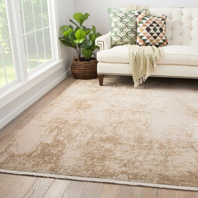 Caspar Power-Loomed Cream Area Rug Rug Size: Rectangle 9 x 12