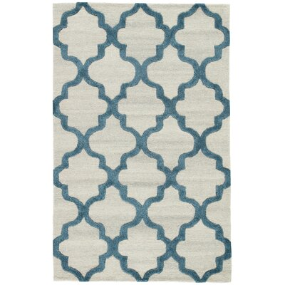 Portland Hand-Tufted Silver/Blue Area Rug Rug Size: Rectangle 2 x 3