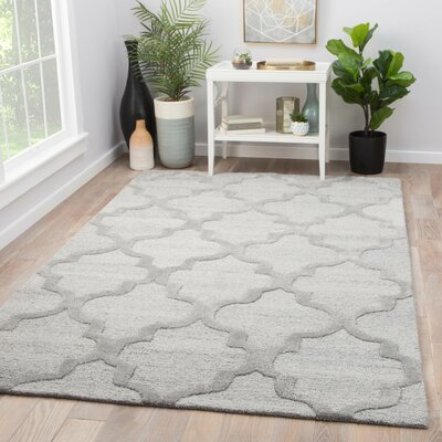 Portland Hand Tufted Gray Area Rug Rug Size: Rectangle 5 x 8