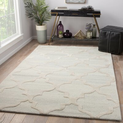 Portland Hand Tufted Wool Cream Area Rug Rug Size: Rectangle 5 x 8