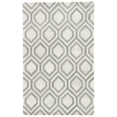 Cyrene Hand Tufted Wool Cream/Gray Area Rug Rug Size: Rectangle 5 x 8
