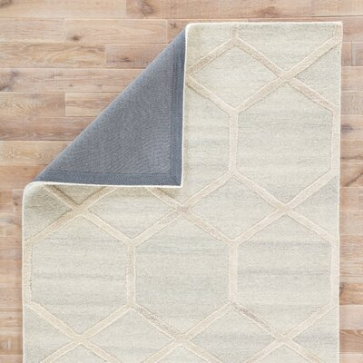 Tulsa Hand Tufted Wool Gray Area Rug Rug Size: Rectangle 5 x 8