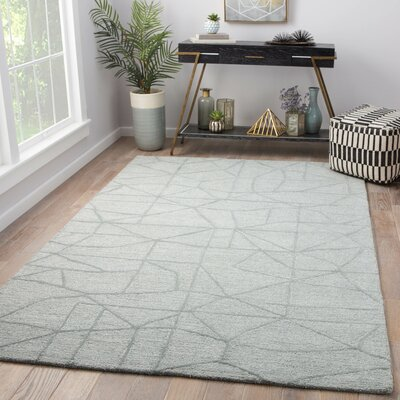 Detroit Hand Tufted Wool Gray Area Rug Rug Size: Rectangle 8 x 11