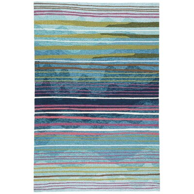 Minta Hand Tufted Green/Blue Indoor/Outdoor Area Rug Rug Size: Rectangle 76 x 96