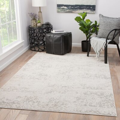 Cheyenne Power-Loomed Gray Area Rug Rug Size: Rectangle 76 x 96