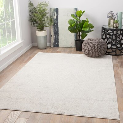 Laramie Power-Loomed Silver Area Rug Rug Size: Rectangle 9 x 12