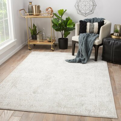 Lolani Power-Loomed Silver Area Rug Rug Size: Rectangle 9 x 12