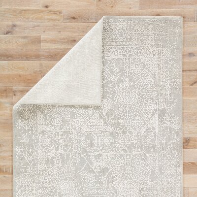 Lolani Power-Loomed Gray Area Rug Rug Size: Rectangle 10 x 14