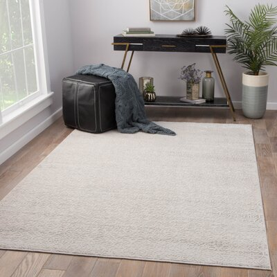 Quenby Power-Loomed Silver  Area Rug Rug Size: Rectangle 9 x 12
