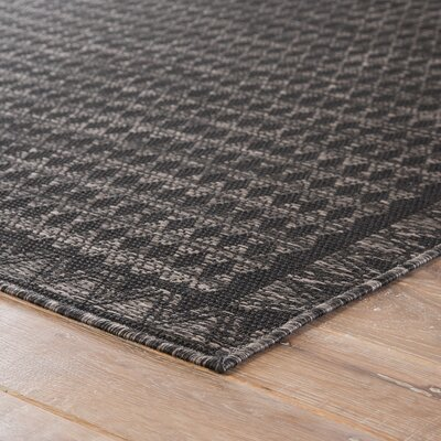 Leah Pewter Indoor/Outdoor Area Rug Rug Size: Rectangle 2 X 38