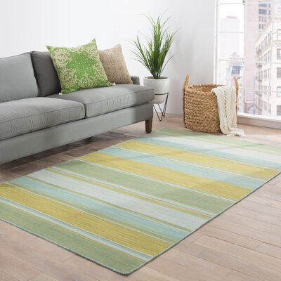 Pura Vida La Palma Lime Green Area Rug Rug Size: Rectangle 8 x 10