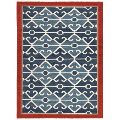 Rubina Blue/Red Area Rug Rug Size: Rectangle 8 x 10