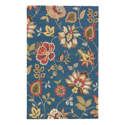 Dilbeck Blue Floral Area Rug Rug Size: Rectangle 8 x 10