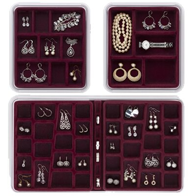 Neatnix 36, 9 and 5 Compartment Jewelry Stax Combo Pack - Color: Burgundy
