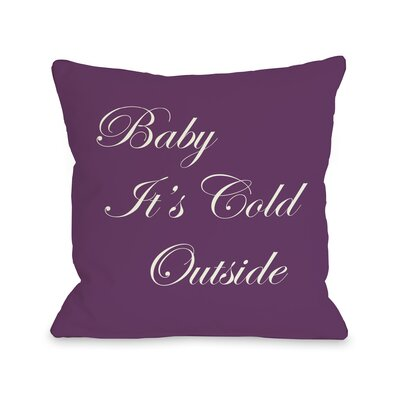 Holiday Baby Its Cold Outside Reversible Throw Pillow