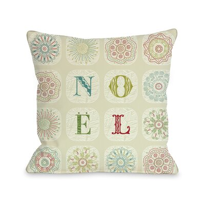 Boho Noel Throw Pillow Size: 18 H x 18 W