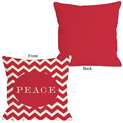Peace Chevron Stripe Throw Pillow Size: 26 H x 26 W