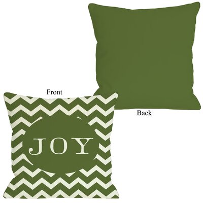 Holiday Joy Chevron Stripe Throw Pillow