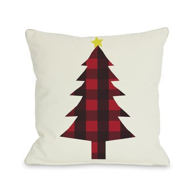 Cornell Plaid Christmas Tree Throw Pillow Size: 20 H x 20 W